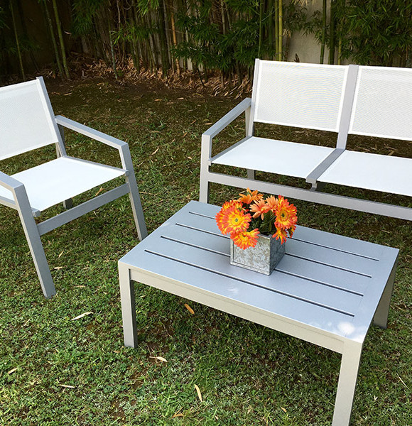 Muebles la maceta lo mejor en muebles de jardin categor as de los productos aluminio extrusado for Juego de jardin fundicion aluminio